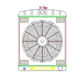 """GRIFFIN 1-70208 alu radiator 24""""x19"""""""