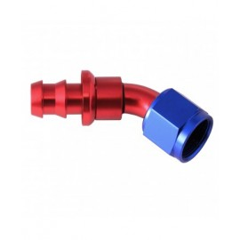 HOSE END PUSH-ON 45 BEND AN8
