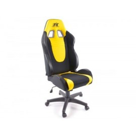 Office Chair Racecar black/yellow