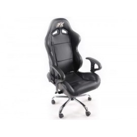 Office Chair Sport Seat with armrest synthetic leather black
