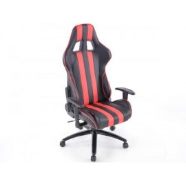 Office Chair Sport Seat with armrest synthetic leather black/red