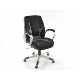 Office Chair Net black/grey with armrests