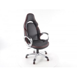 Office Chair Aurora black with armrests