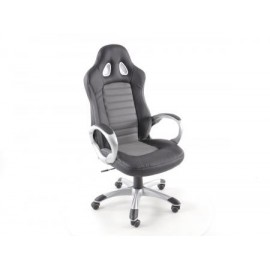 Office Chair artificial leather black/grey