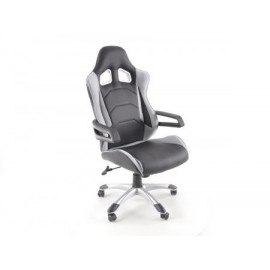 Office Chair artificial leather material black/grey