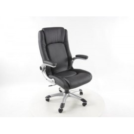 Office Chair artificial leather black with adjustable armrests