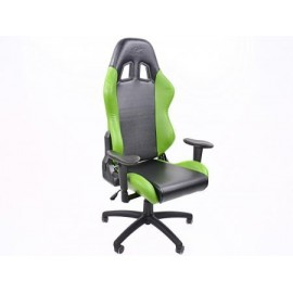 FK sport seat office chair gaming seat Liverpool black/green swivel chair revolving chair