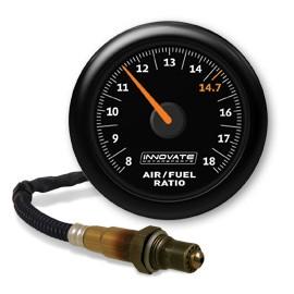 Innovate Analog MTX-AL Air/Fuel Ratio Gauge Kit, Black Dial