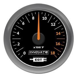 Innovate Analog MTX-A (EGT) Gauge Kit, Black Dial