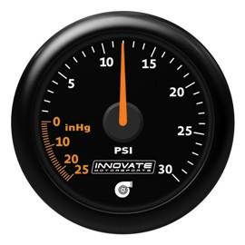 Innovate Analog MTX-A 30 PSI Vacuum/Boost Gauge Kit,Black Di